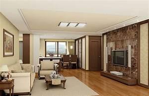 Wood floor wall ceiling door interior design 3D