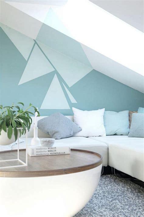 Wandgestaltung Wohnzimmer Muster by Wand Streichen Muster Ideen Wohnzimmer Dachschraege