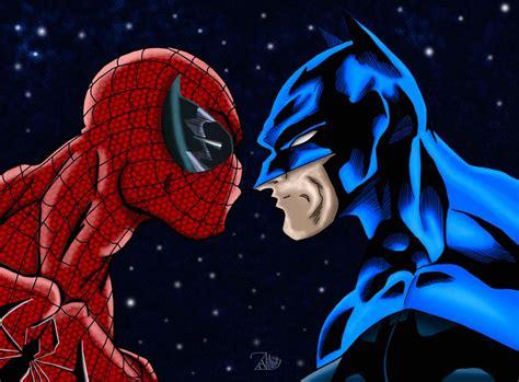 Spiderman Versus Batman By James Lee Stone Colored By