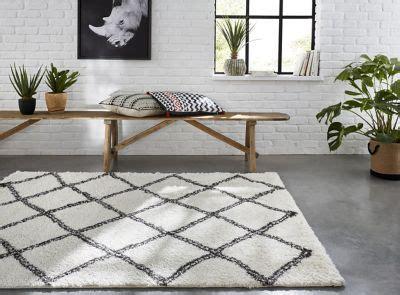 tapis tribal losanges blancs    cm castorama