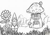 Coloring Garden Gnome Pages Printable Colouring Adults Clip Fairy Print Rocks Gnomes Sheets Gardening Mushroom Flower Bff Preschool Drawing Adult sketch template
