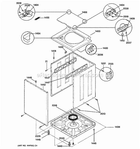 spinning kitchen cabinet ge wsm2700wcwww parts list and diagram ereplacementparts 2428