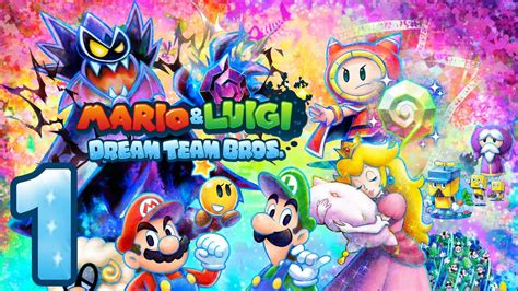 let s play mario luigi dream team bros part 1 reise