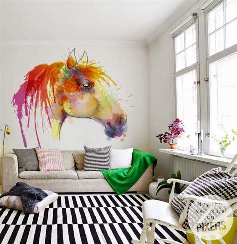 papier peint chevaux pour chambre cheval de aquarelle inspiration papier peint la galerie