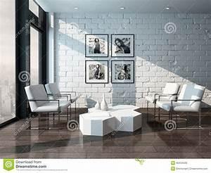 Mur Brique Salon : int rieur minimaliste de salon avec le mur de briques ~ Zukunftsfamilie.com Idées de Décoration