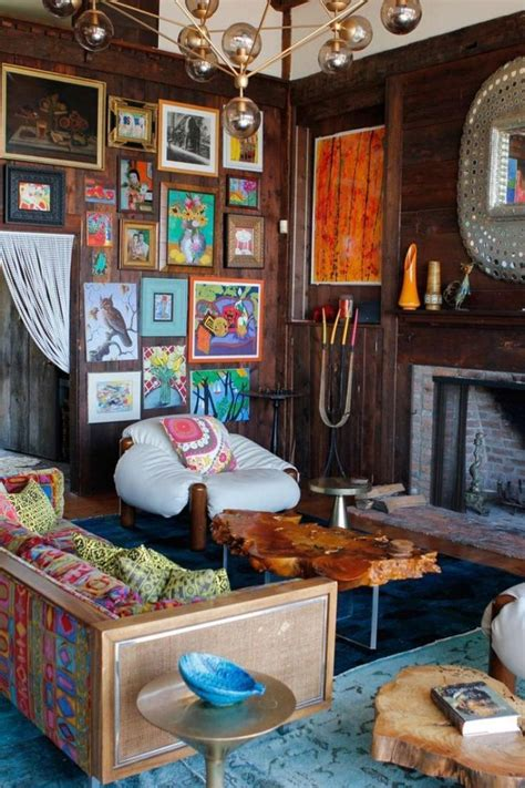 rustic eclectic room  colorful  cute  frame