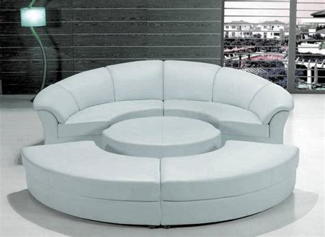 Round Out Room Decor with Modern Round Sofa, 25 Furniture