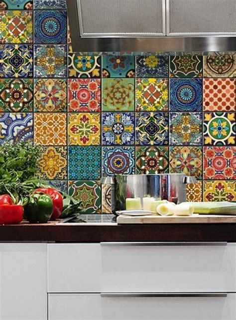 cuisine carrelage mural multicolore cuisine carrelage