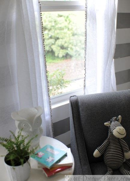 soft whisper linen curtain panels in snow with gray pom