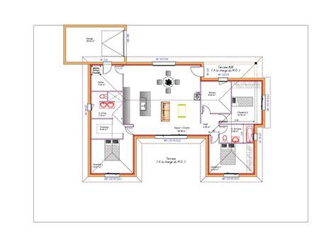 maison 2 chambres cuisine adorablement plan maison plain pied plan maison