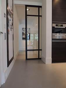 la porte coulissante en verre gain d39espace et With porte de garage enroulable et porte interieur cuisine