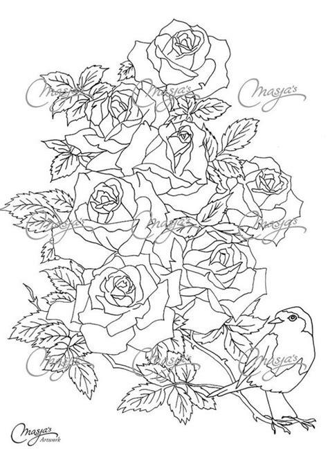 Masjas Roses Coloring Page made by Masja van den Berg