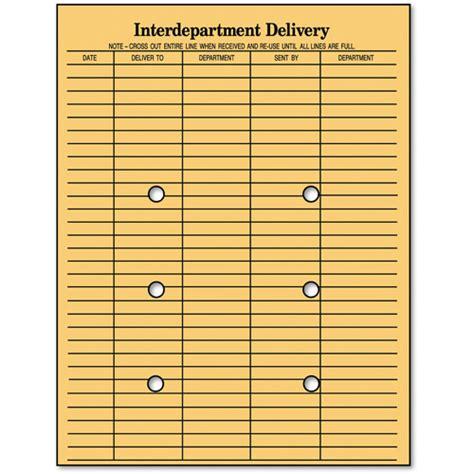 "Columbian String & Button Interoffice Envelope, 10"" X 13"