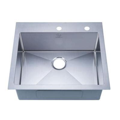 overmount stainless steel sink stufurhome nationalware overmount stainless steel 25 in 2