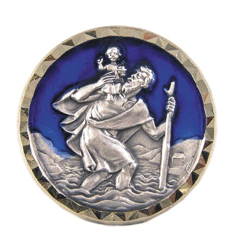 der heilige christophorus christophorus plakette heiliger christophorus bei kirchliche kunst de