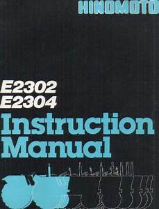 Hinomoto Tractor E2302 E2304 Operators Manual