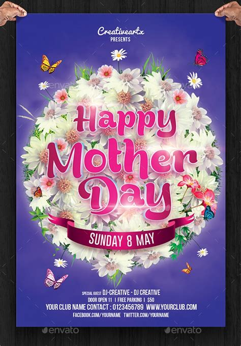 mothers day flyer template    vector eps psd