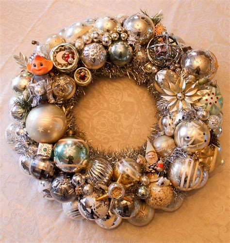my vintage christmas ornament wreaths for 2016 quot one is