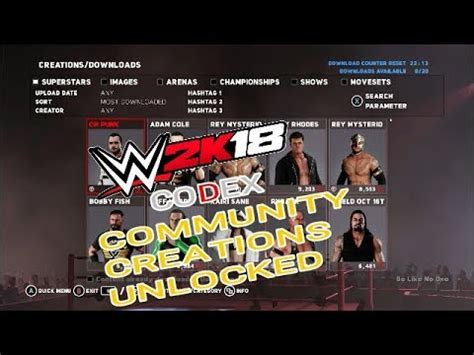 Wwe 2k18 — an excellent gaming adventure with a sporty bias. WWE 2K18 Codex Community Creations Unlocked - YouTube