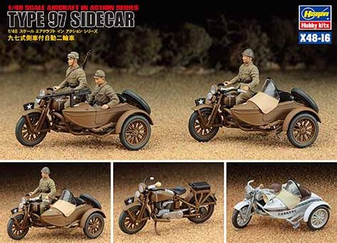 Japanese Iiww Military Motorcycle With Sidecar Type 97