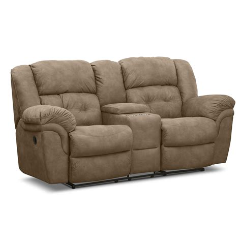 microfiber reclining sofa with console brown microfiber reclining loveseat with console and