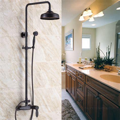 Retro Bathroom Fixtures by Retro Black Rubbed Bronze Bathroom Exposed Shower Faucets