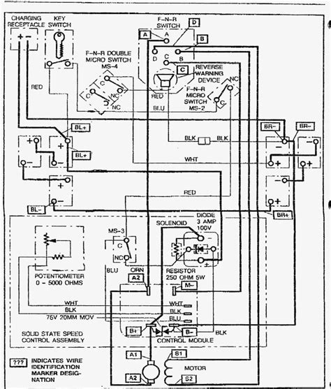 Ez Go Textron Charger Wiring Diagram by Ez Go Golf Cart Wiring Diagram Pdf Volovets Info