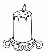 Candle Burning Coloring Drawing Pages Etsy Clipartmag Cards sketch template