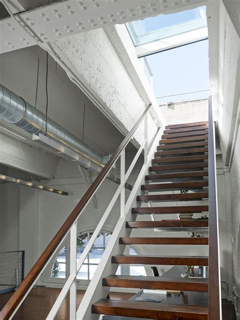 retractable staircase historic soma loft for live work art making and entertaining jeff king and company award