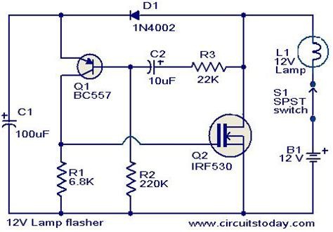 Lamp Flasher Circuit Under Repository Circuits