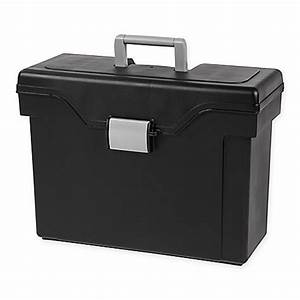 iris usa letter legal size portable file box in black set With letter size portable file box