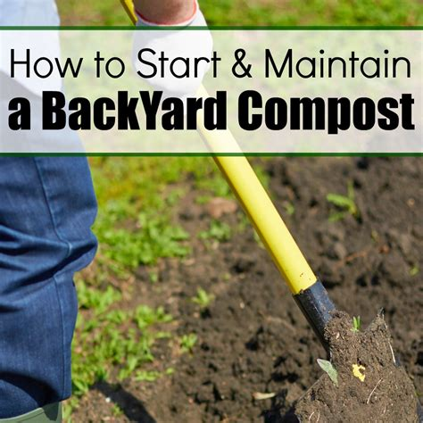 How To Backyard Compost by How To Start Maintain A Backyard Compost