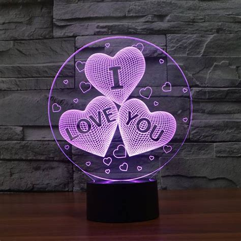 I Love You D Led Lamp