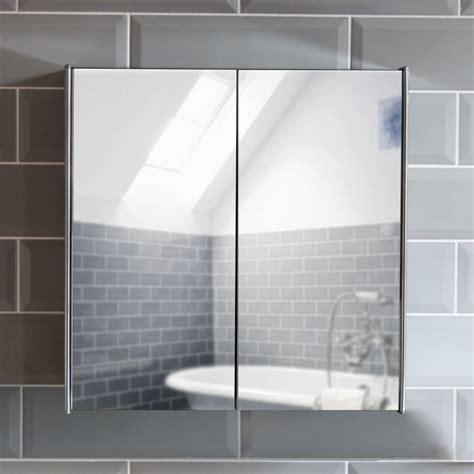 bathroom cabinet double triple door wall mounted mirror