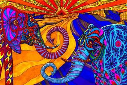 Psychedelic Trippy Elephants Psicodelia Drug Imagenes Narcotic