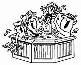 Whirlpool Tub Familie Spa Badewanne Exterieur Malvorlage Ausmalbilder Rond Titel Malvorlagen sketch template