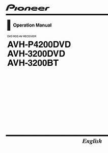Pioneer Avh3200dvd  Bt  Avhp4200 Manual By Talk Audio Online