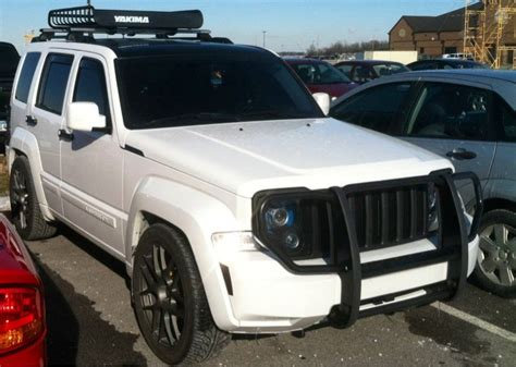 2010 White Jeep Liberty With Black Grill, Rims, Grill