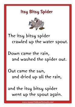 rhymes posters aussie childcare network