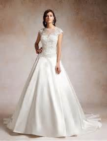 illusion neckline bridesmaid dress satin and lace a line wedding dress with illusion neckline sang maestro