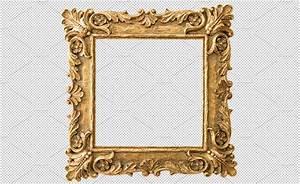 Antique golden frame PNG ~ Objects ~ Creative Market