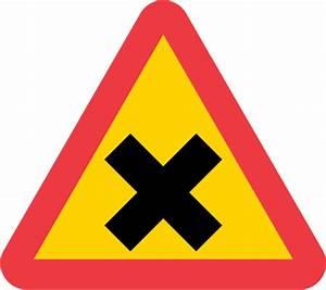 Varning för vägkorsning 70 väg