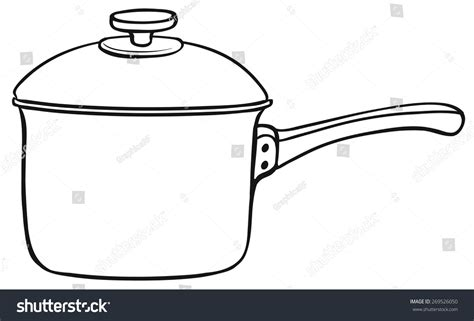 Close One Cooking Pot Lid Stock Vector 269526050