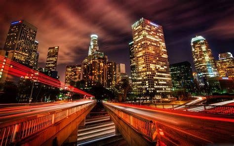 Downtown Los Angeles At Night Mac Wallpaper Download ...