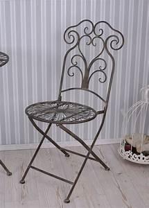 Chaise De Jardin En Fer : chaise de jardin fer forg chaise en m tal jardin shabby antique chaise ebay ~ Teatrodelosmanantiales.com Idées de Décoration