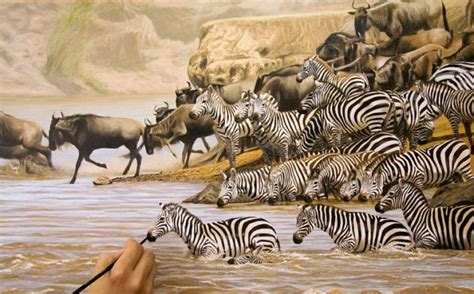 adding  details  great migration painting