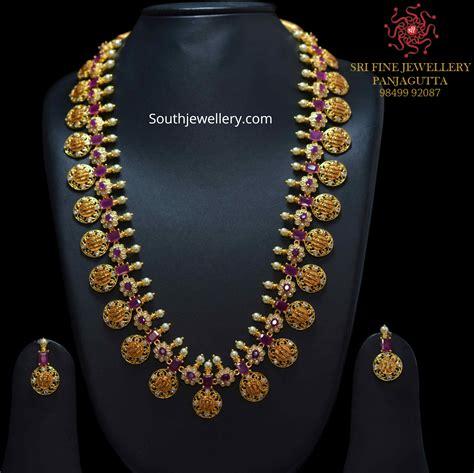gram gold kasu necklace designs indian jewellery designs