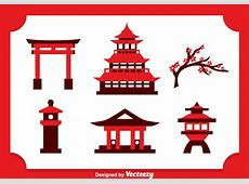 Japanese Castle Icons Vector Download Free Vector Art