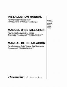 Download Free Pdf For Thermador Pro Harmony Prd366ghu