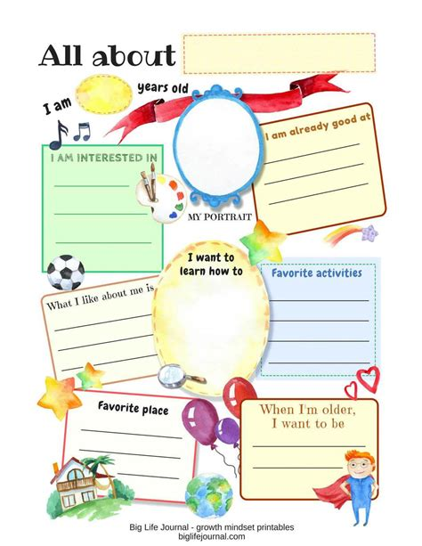 free printable all about me worksheet pdf the best